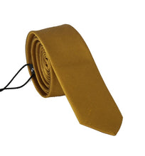 Load image into Gallery viewer, Yellow Silk Solid Slim Tie