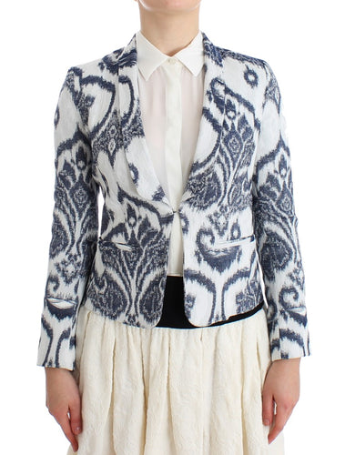 Blue White Blazer Suit Jacket