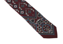 Load image into Gallery viewer, Bordeaux Silk Print Tie