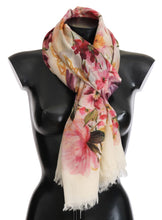 Load image into Gallery viewer, Multicolor Floral Cashmere Scarf