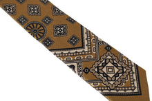 Load image into Gallery viewer, Yellow Silk Print Tie