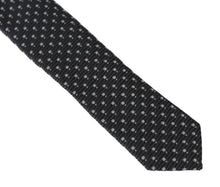 Load image into Gallery viewer, Gray Silk Woven Dotted Slim Tie