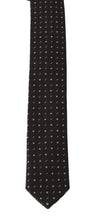 Load image into Gallery viewer, Gray Silk Dotted Slim Tie