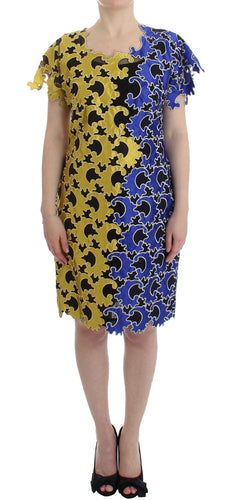 Multicolor Sheath Wiggle Dress
