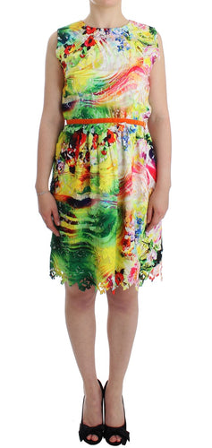 Multicolor Organza Sheath Dress
