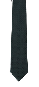 Green Silk Polka Dot Print Slim Tie