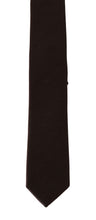 Load image into Gallery viewer, Brown Solid Silk Slim Tie