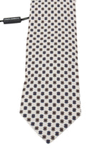 Load image into Gallery viewer, White Silk Pattern Tie