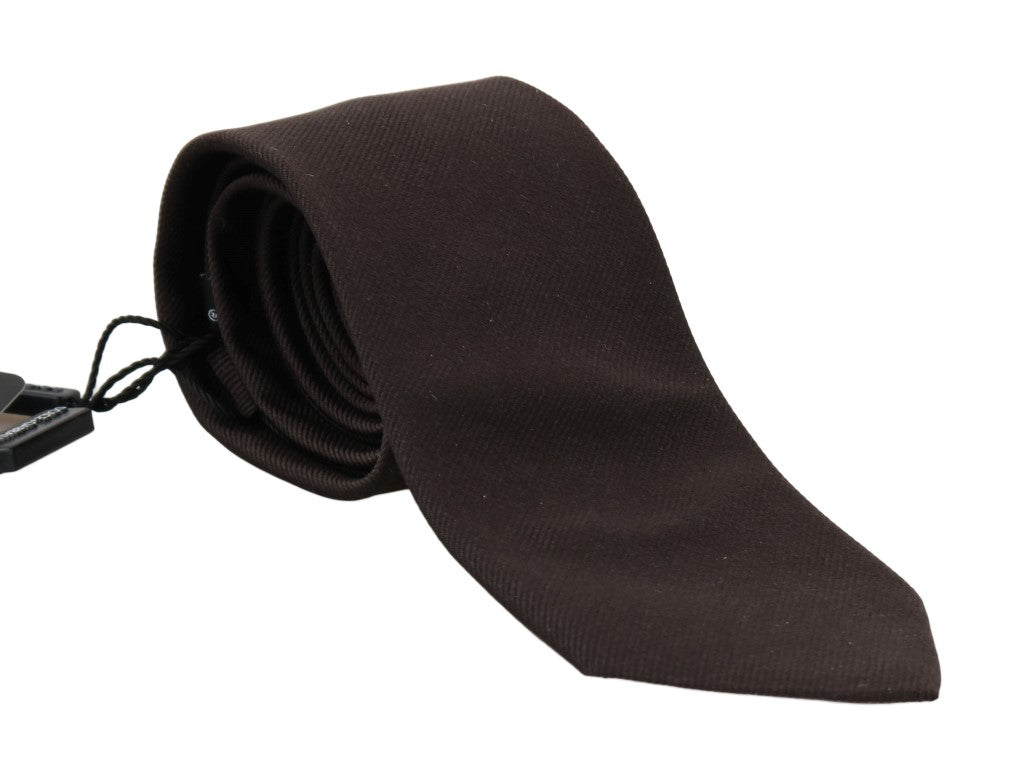 Brown Silk Solid Classic Tie