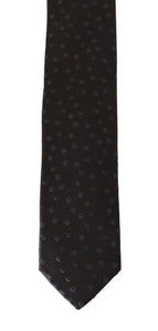 Brown Silk Gray Polka Dot Slim Tie