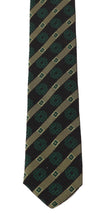 Load image into Gallery viewer, Green Yellow Silk Striped Slim Tie