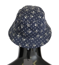 Load image into Gallery viewer, Blue Cotton Skull Polka Dot Print Hat