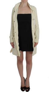Beige Weather Proof Trench Jacket Coat