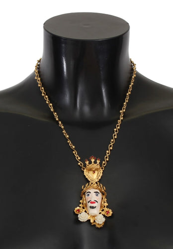 Gold Brass SICILY Crystal Puppi Doll Necklace