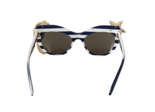Load image into Gallery viewer, White MARINA Gold Seastar Seahorse Sunglasses