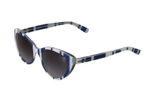 Load image into Gallery viewer, White Blue Cat Eye Polarized Sunglasses