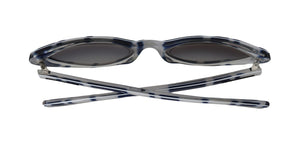 White Blue Cat Eye Polarized Sunglasses