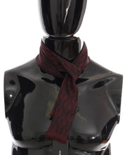 Load image into Gallery viewer, Bordeaux Silk Crown Chili Scarf
