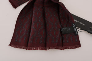 Bordeaux Silk Crown Chili Scarf