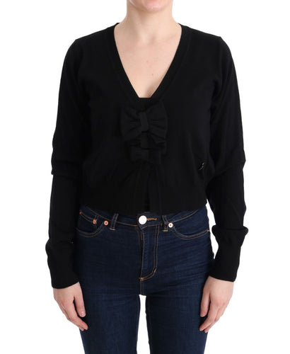 Black Wool Blouse Sweater