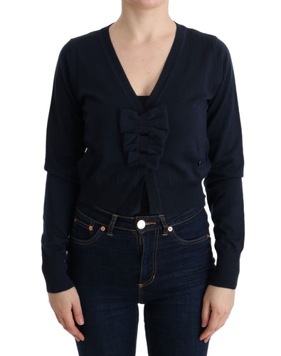 Blue Wool Blouse Sweater