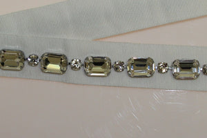 White Crystal Stones Waist Belt