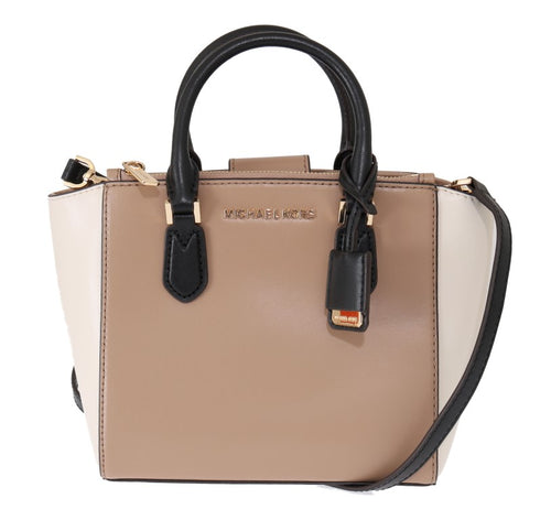 Beige CAROLYN Leather Tote Bag