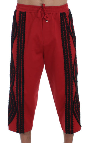 Red Black Torero 3/4 Pants Shorts