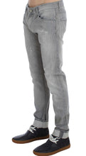 Load image into Gallery viewer, Gray Wash Denim Cotton Stretch Slim Fit Jeans