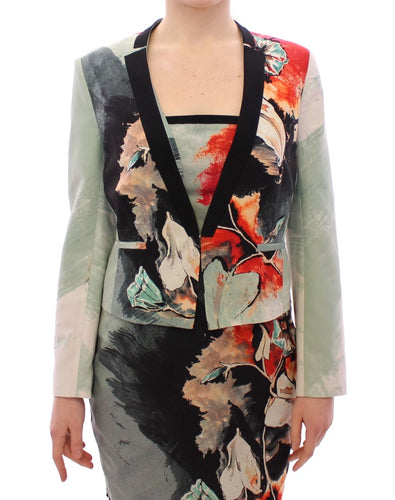 Multicolor Short Floral Blazer Jacket