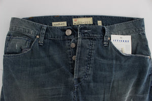 Blue Wash Cotton Denim Regular Fit Jeans