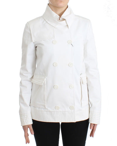 White Double Breasted Jacket Coat Blazer