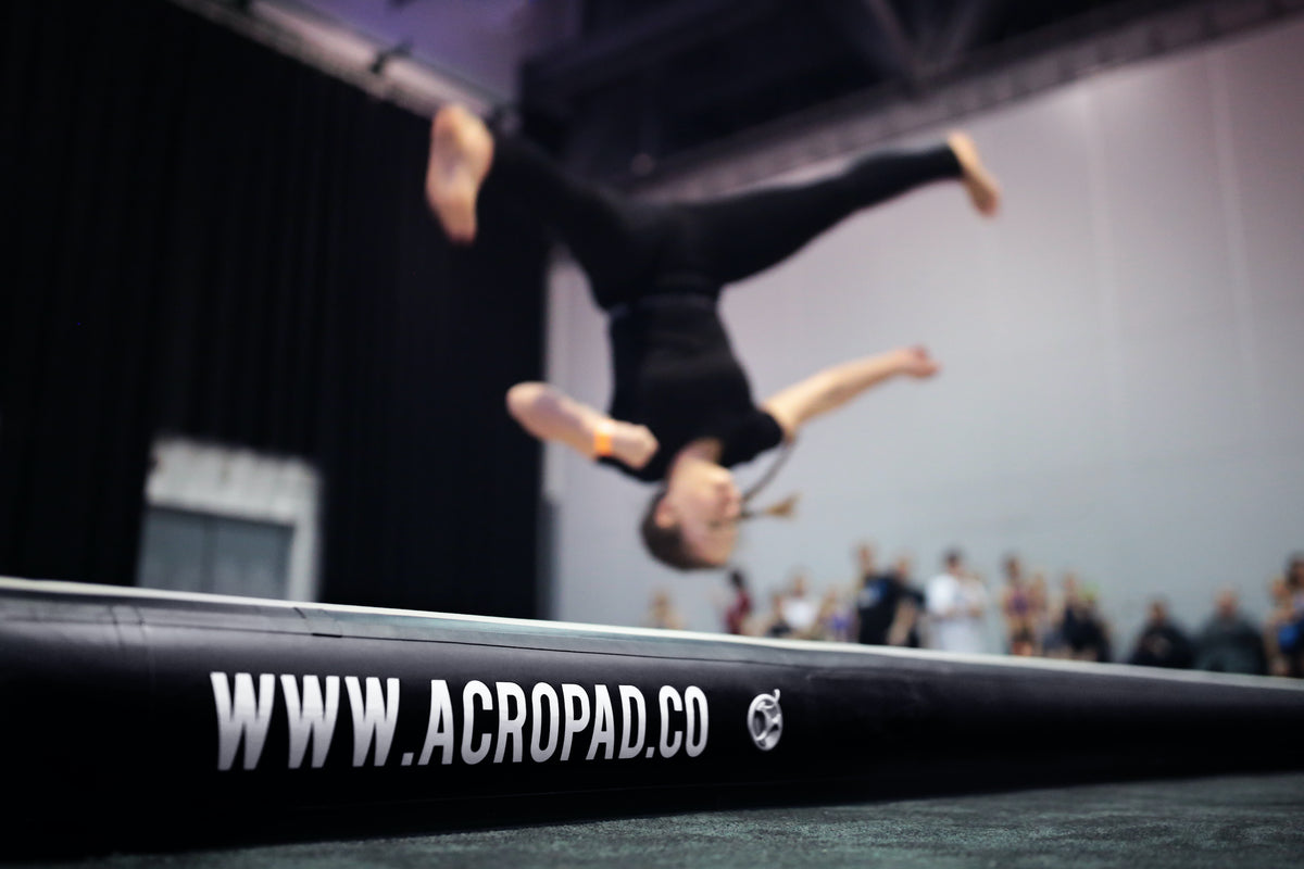 Acro tracks and air floors for dancers