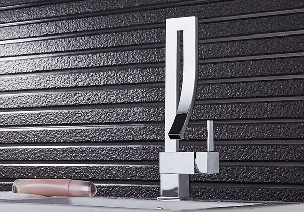 GALE Modern Gold/Silver Curved Waterfall Faucet