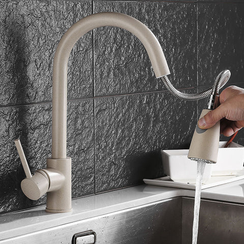 TISH Modern Matte Nude Extendable Tap Faucet