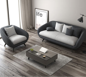 PEBBLEBAY Modern and Contemporary Fabric Nordic Style Sofa