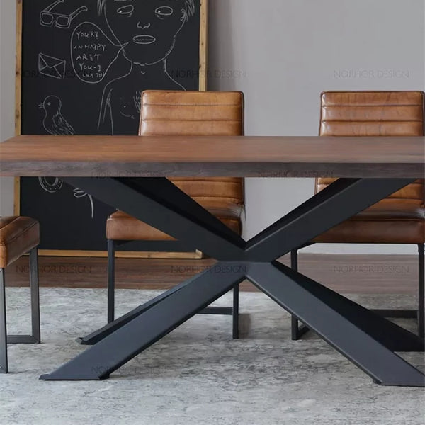 Rustic Industrial Wooden Dining / Conference Table