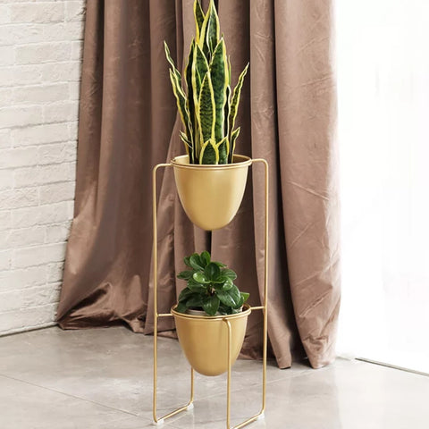ABRUZZI Modern Double Pot Planter