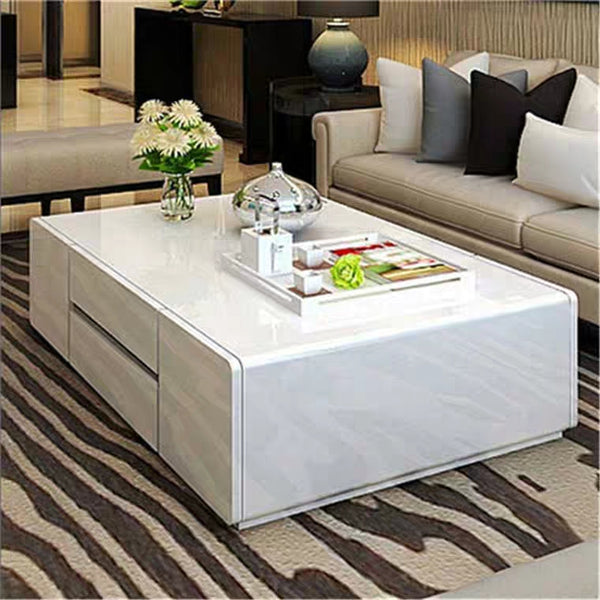 AIDA Contemporary Glossy Piano White Coffee Table