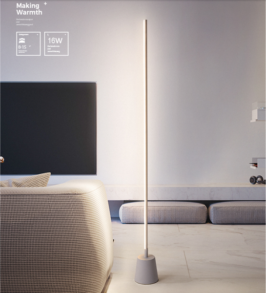 PACO Contemporary Minimalist LED Light Sabre Standing Lamp
