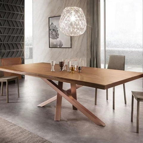 AIDYN Wishbone Solid Wood Dining Table