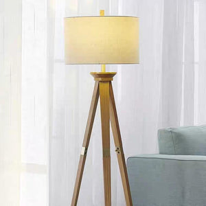 AKARI Japanese Pine Wood Standing Lamp