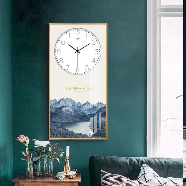 ALPS Nature Wall Art Clock