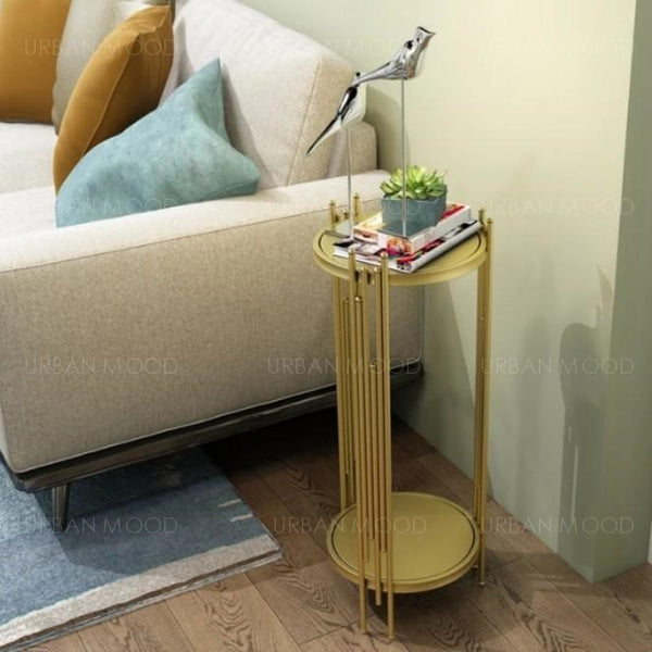 ARINNA Gold Art Deco Plant Stand