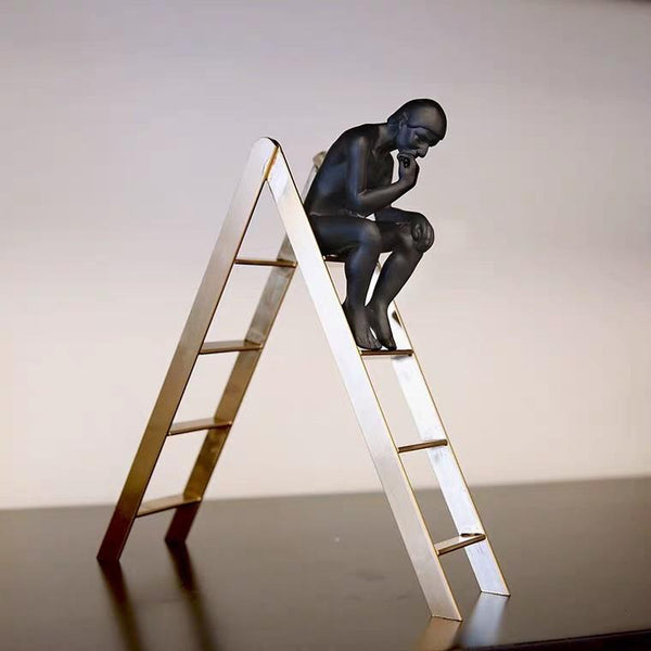 AUGUSTE The Thinker Ladder Display Ornament
