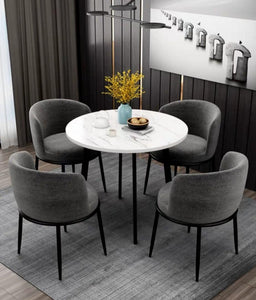 AVERY Faux Marble Dining Set