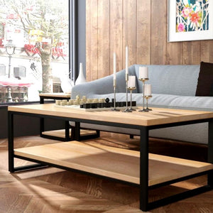 BARREL Minimalist Solid Wood Coffee Table