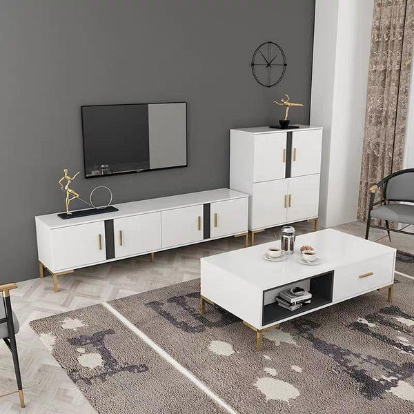 BLUESTONE Modern Industrial TV Console