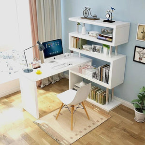 BRYAN Modern Modular Shelf Study Table