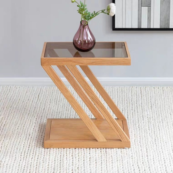 BJORN Contemporary Solid Wood Side Table